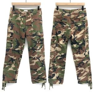 Urban Outfitters Green Camo Crop Pants - Size 8